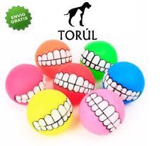 Juguete Torúl Bola de Goma Sonrisa Dentadura para Mascotas Perro 7,5cm diámetro