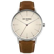 Ben Sherman WB009T Mens Portobello Touch Brown Leather Strap Watch RRP £50