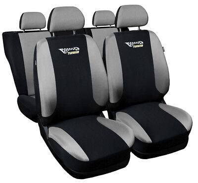 CAR SEAT COVERS fit HYUNDAI TUCSON Leatherette full set Black//Grey