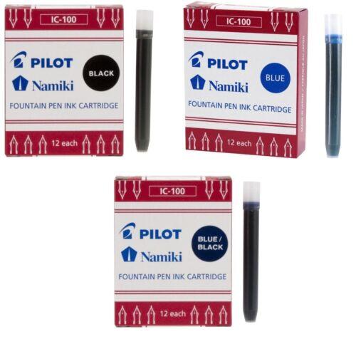 Pack 12 Kartuschen Pilot Namiki Tintenpatrone Refill IC100