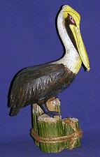 Pelican on Piling~Shore Birds~Nautical Decor~Looks Like Real Wood
