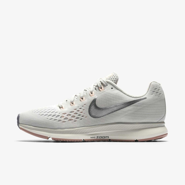 Wmns Nike Air Zoom Pegasus 34 880560-004 Sz 5-7 Light Bone/Grey 880560-004 34 FREE SHIPPING 601490