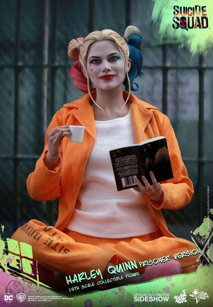 DC COMICS  SUICIDE SQUAD HARLEY QUINN PRISON VERSION VERSION VERSION 1 6 Action Figure HOT TOYS e13e10