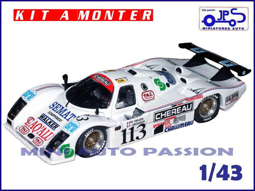 Kit JPS - Cougar C20 - 24 H  du Mans 1990 - Prépeint - ref   KP418  qualité de première classe