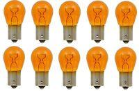 10x 1156 Amber Tail LIGHT Rear Brake Stop Turn Signal LAMPS BULBS Yellow 1156NA