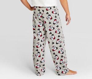 Image is loading Mickey-Mouse-Christmas-Santa-Lounge-Sleep-Pants-Bottoms- a90fe1bc7