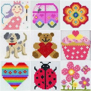 Anchor-1st-Counted-Cross-Stitch-Kit-Ideals-Beginners-Kids-Children-039-s-Craft