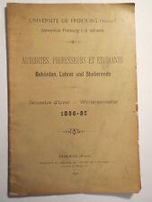 Freiburg - Fribourg Schweiz - WS 1896-97 - Behörden Lehrer und Studierende