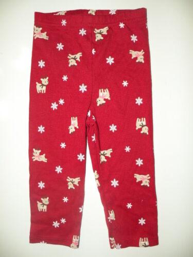 GYMBOREE SNOW CUTE RED w// REINDEER LEGGINGS 0 3 6 12 NWT