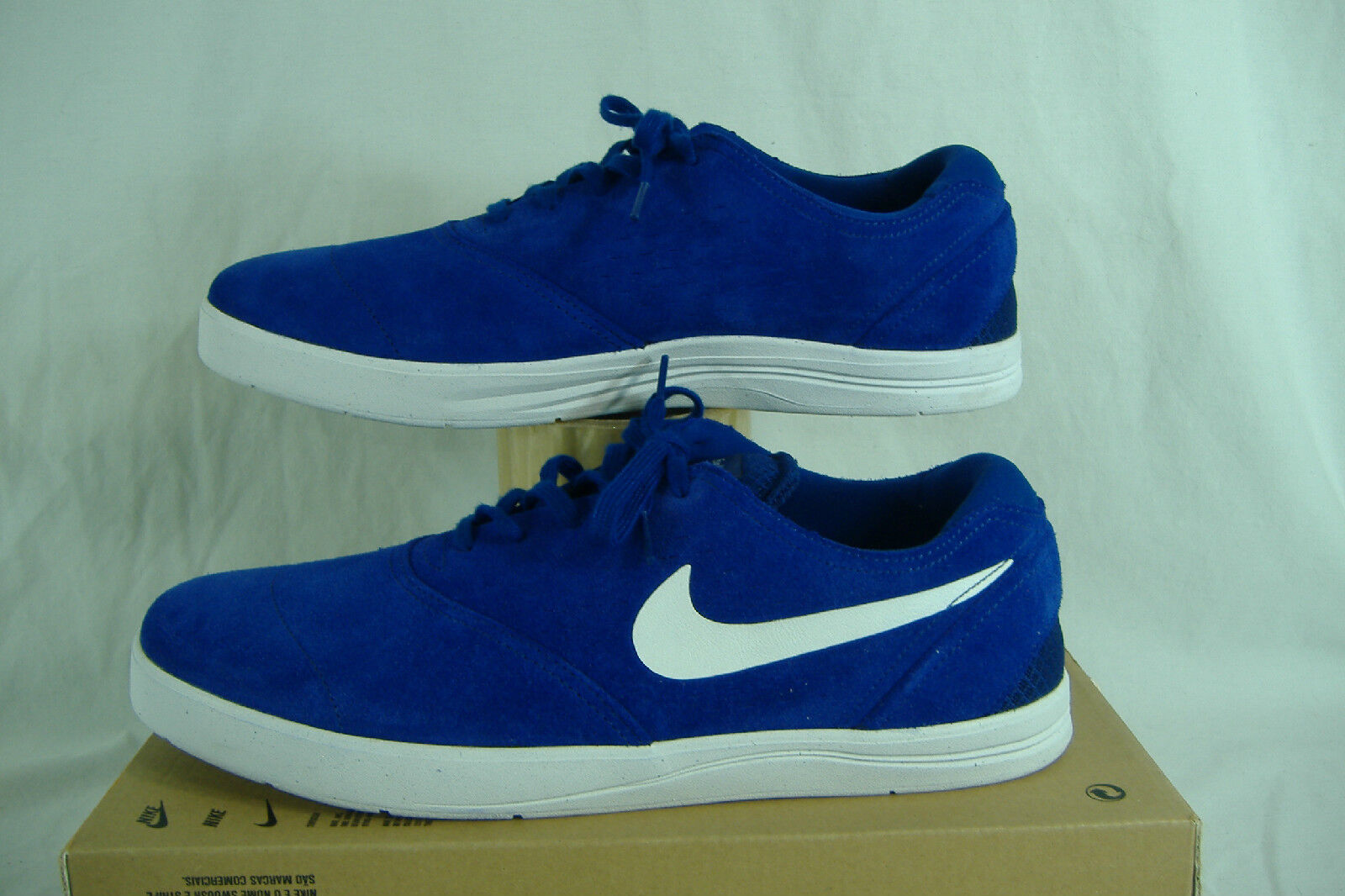 Mens 13 NIKE Koston 2 Deep Royal Blue Suede Leather Skate Shoes 90 844447-401