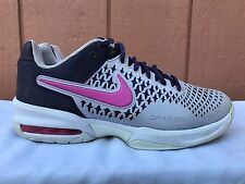 new styles 0a9d9 9c5a1 ... purchase euc nike air max cage womens us 7 eur 38 tennis shoes black  pink gray