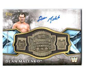 WWE-Dean-Malenko-2017-Topps-Legends-Belt-Plate-Autograph-Relic-Card-SN-89-of-99