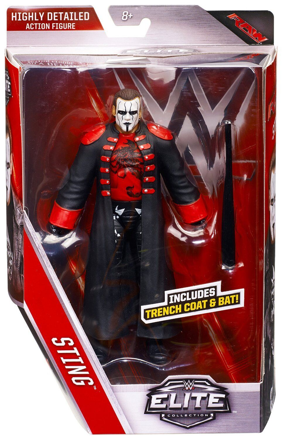 WWE WWE WWE STING ELITE 39 WRESTLING FIGURE WCW FIRST ELITE c65297
