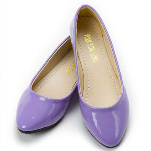 Women Flats Ballerina Pump Lady Ballet Dolly Dress Shoes Slip Loafers Shoe Size