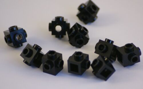 LEGO Bausteine & Bauzubehör 10x Lego® 4733 Steine 1x1 schwarz Bricks black Konverter Noppen an 4 Seiten NEU