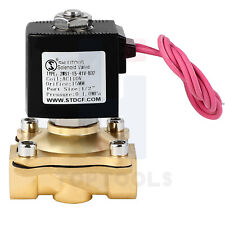 12 Brass Electric Solenoid Valve Ac110v Normally Closed For Water Air Gas Fuel