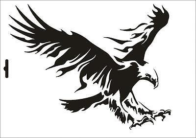 Stencil W-076 Eagle ~ Umr Wall Stencil Painting Supplies
