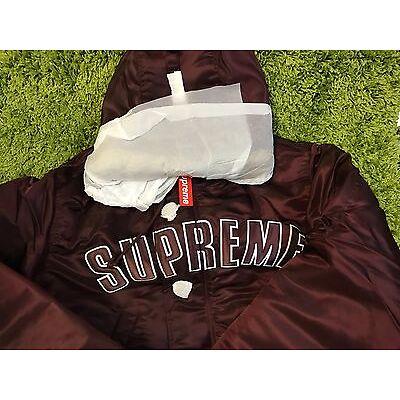Supreme F/W 2016 Arc Logo N-3B Parka Jacket Box Logo Maroon Large Small Medium