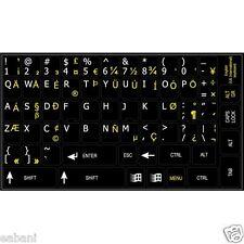 Stickers Autocollants de clavier QWERTY US INTERNATIONAL keyboard layout keys