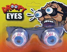 HALLOWEEN JOKE DROOPY EYES ON SPRINGS GLASSES FRAME FANCY DRESS ACCESSORY