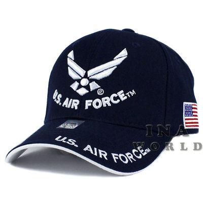 Air Force Retired Hat USAF Navy Blue Baseball Cap U.S