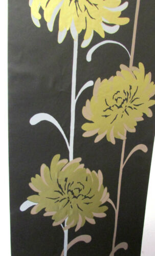 READYROLL 30cm x 5m Feature Wall WALLPAPER BORDER Self Adhesive BLACK GOLD
