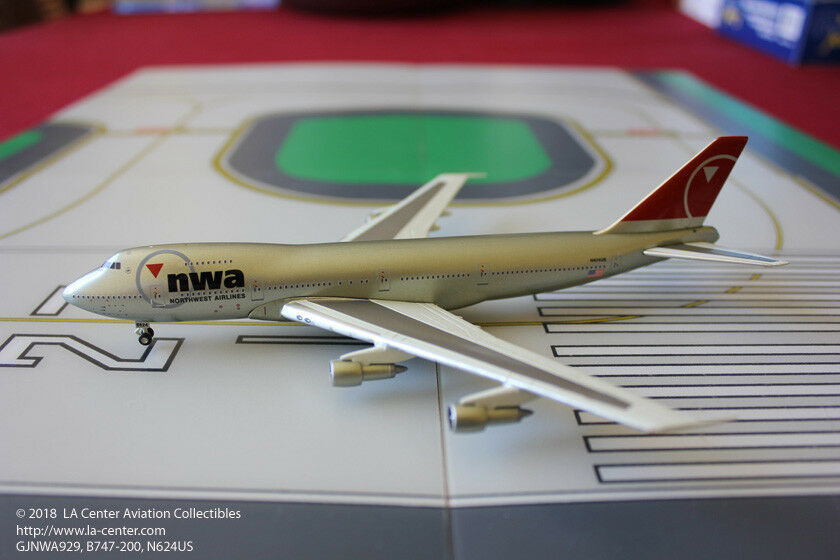 Gemini Jets Northwest Airlines Boeing 747-200 in Old Farbe Diecast Model 1 400