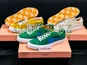 Details About Tyler The Creator X Converse One Star Golf Le Fleur Wang 4 12 Green Yellow Beige