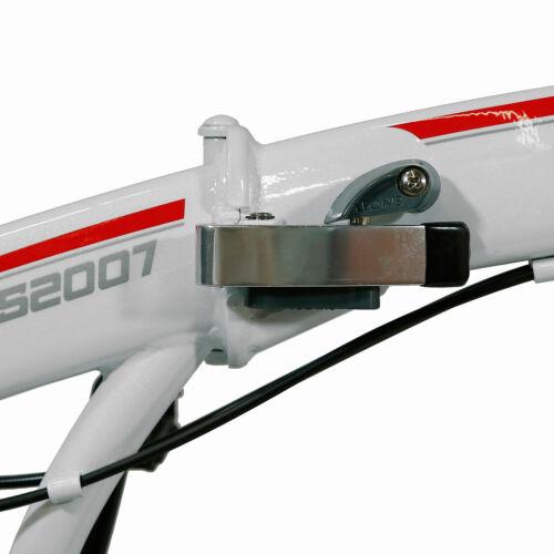 "XSpec 20/"" 7 Vitesse City Pliable Mini Compact Vélo Commuter Blanc Shimano"
