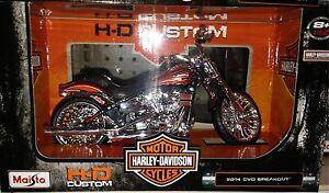 Harley-Davidson-2014-CVO-Breakout-Motorcycle-Die-cast-1-12-Maisto-5-inch