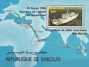 Timbre-Bateaux-Djibouti-BF3-lot-25318