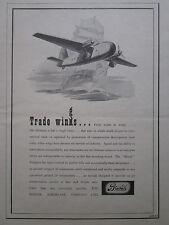9/1945 PUB BRISTOL AEROPLANE FREIGHTER AIRCRAFT AVION FLUGZEUG ORIGINAL AD