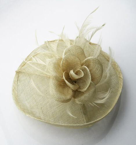Ladies Fascinator Hair Clip Hat Women/'s Desinger Veil Hat Feather Mesh Wedding