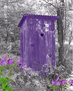 Purple & Gray Home Decor Wall Art Photo Print Vintage ...