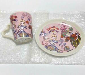 Tokyo-Disney-Alice-in-Wonderland-Tea-Cup-amp-Plate-Heart-Shape-Set-Queen-of-Hearts