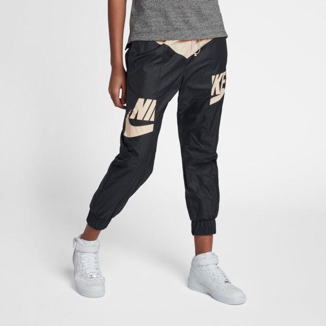 d3d358d9a6ffdb Nike Sportswear Windrunner Women s Pants L Black Pink Ripstop Casual Gym New