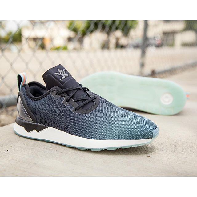New Men's Adidas ZX Flux Racer ADV Asymmetrical Running/Training Shoe-Black/Glow