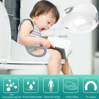 WC Sitz Kinder Toilettensitz Baby Toilettentrainer mit Gepolsterte Spritzschutz