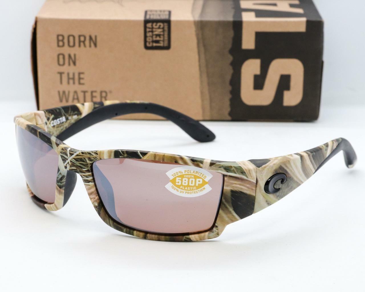 Costa Del Mar Fantail Polarized Sunglasses-Mossy Oak SGB Camo//Copper 580P Lens