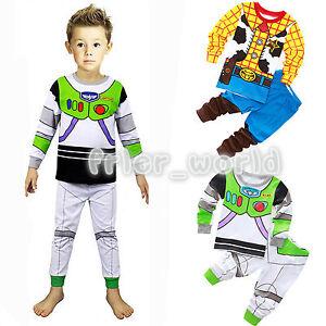 Woody Buzz Light Year Boy Kid Nightwear Sleepwear Pjs