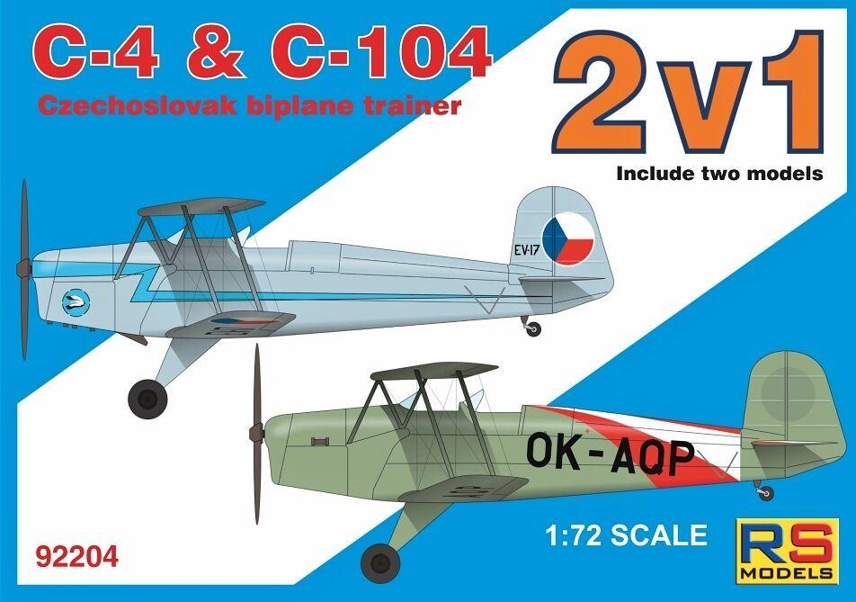 RS modellllerlerler 1  72 C 4 C 104 tjeckisk tvåplansutbildning Double Kit