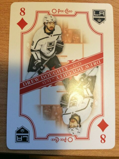 O-Pee-Chee 2019-2020 DREW DOUGHTY PLAYING CARD 8 OF DIAMONDS HOCKEY CARD