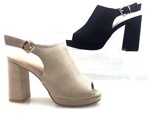 Scarpe Stivali Donna Spuntate Plateau Estivi Sabot Sandali Laccetto rrcHB