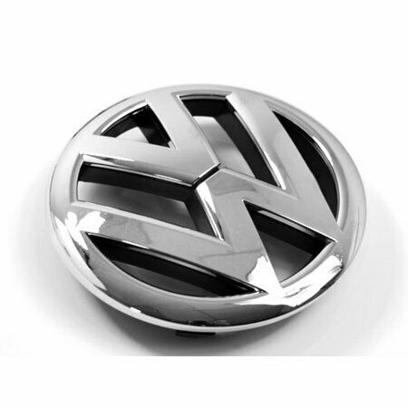 VW Front Badge Insert White Silver Metallic