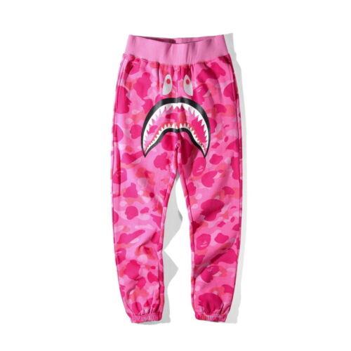 Camo Shark Jaw A Bathing Ape Bape Thin Sports Looser Casual Trousers Sweatpants