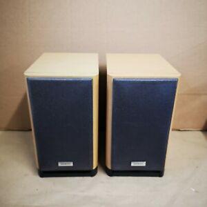ONKYO-D-N9BX-Speakers-Pair-Beech-70w-2-Way-Excellent