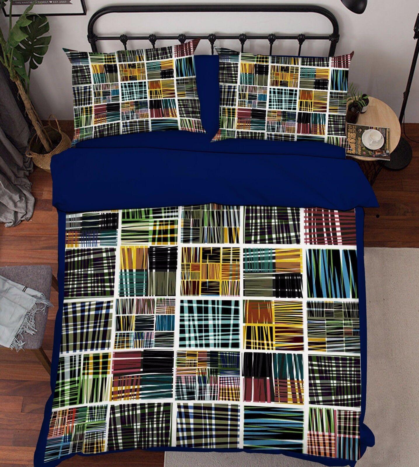 3d Couleur Grille 907 lit housses de coussin steppes couette couvertures Set Single de Kyra