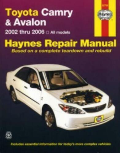 Haynes Workshop Manuale TOYOTA CAMRY /& Toyota Avalon 2002-2006 Servizio di Riparazione