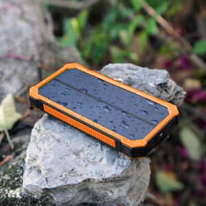 300000mah Solar Panel Power Bank 6 LED USB Backup Battery Charger For Cell Phone
