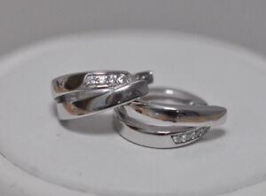 Echt-925-Sterling-Silber-Ohrringe-Creolen-mit-Zirkonia-Nr-308